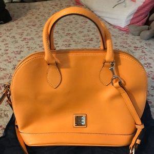 Dooney & Burke Zip Zip Satchel- Bright orange